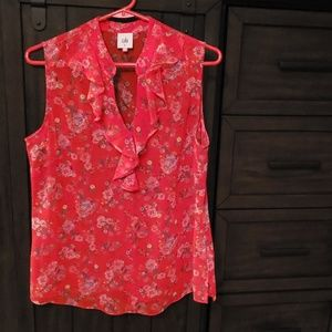 Cabi red sleeveless top
